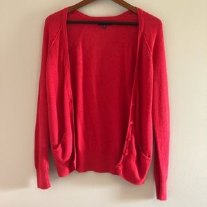 American Eagle Red Cardigan